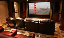 上海金山中锐龙湾联排 独立家庭视听室设计